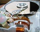 Een nieuwe harde schijf formatteren in Windows 10