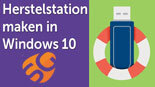 Maak een herstelstation in Windows 10